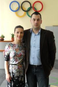 Andreea Raducan si Andreas Hniatiuc