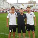 Andrei Vastag si Cristi Gavra cu Psiholog sportiv Andreas Hniatiuc