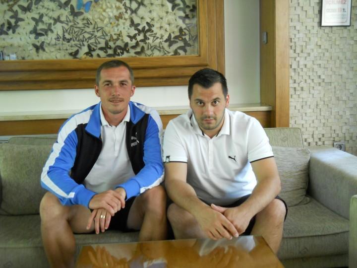 Ciprian Pruna si psiholog sportiv Andreas Hniatiuc