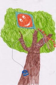 Copac pom - Interpretarea desenelor copiiilor