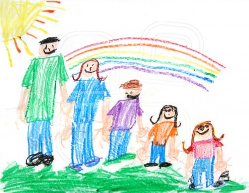 Familie - Interpretarea desenelor copiiilor