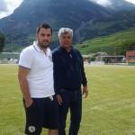 Psiholog sportiv Andreas Hniatiuc si Mircea Lucescu