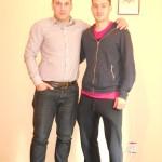 Viorel Ferfelea impreuna cu Psiholog sportiv Andreas Hniatiuc